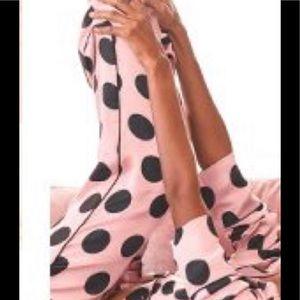 VICTORIA'S SECRET Pink & Blk Satin PJ Pant NWT XL